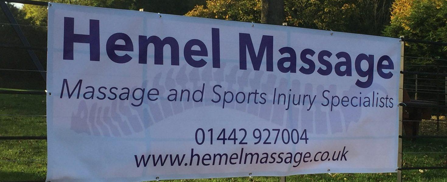 Hemel Massage Banner